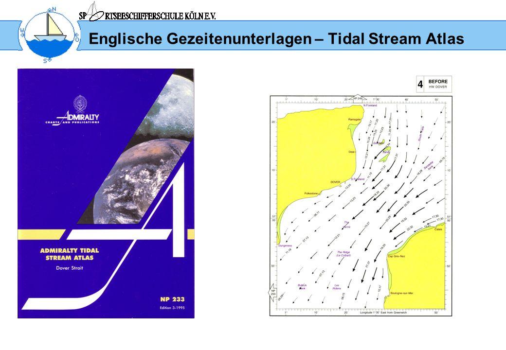 Englische Gezeitenunterlagen – Tidal Stream Atlas