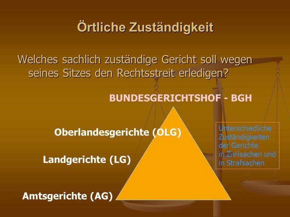 Entscheidungskompetenz der Gespanschaftsgerichte a) in zweiter Instanz... b) in erster Instanz...