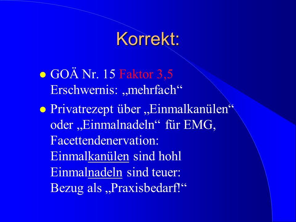 Verbotener Parallelansatz beim interventionellen CT: l GOÄ Nrn.