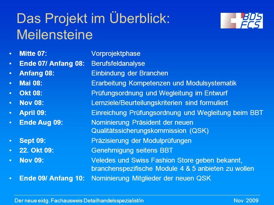 Nov 2009Der neue eidg.Fachausweis Detailhandelsspezialist/in Der Assessment-Tag 1.