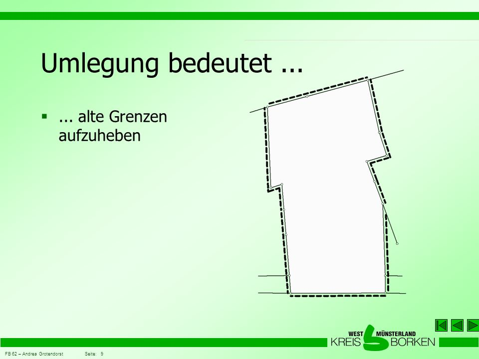 FB 62 – Andrea Grotendorst Seite: 20 Grundsätze der Umlegung vom Gesamtgebiet (Umlegungsmasse) werden die geplanten Straßen, Ausgleichsflächen...
