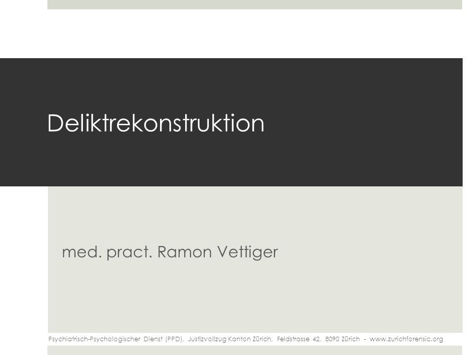 Deliktrekonstruktion med.pract.