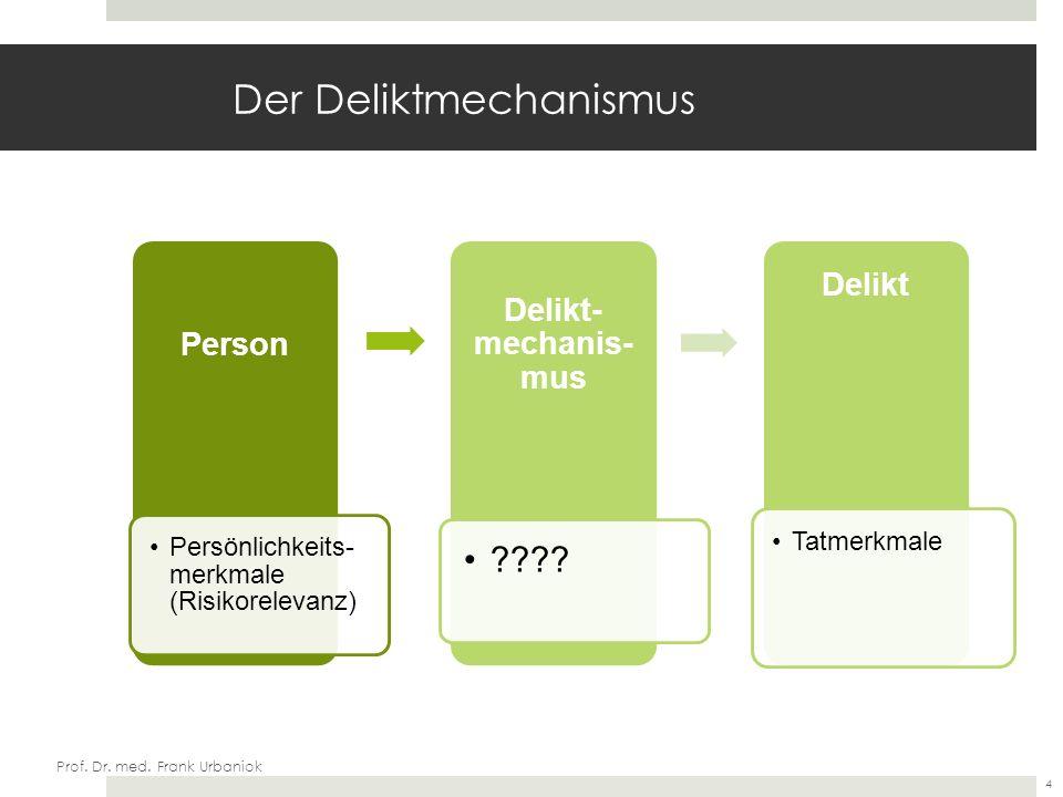 Prof. Dr. med. Frank Urbaniok Technische Zielsetzungen 15