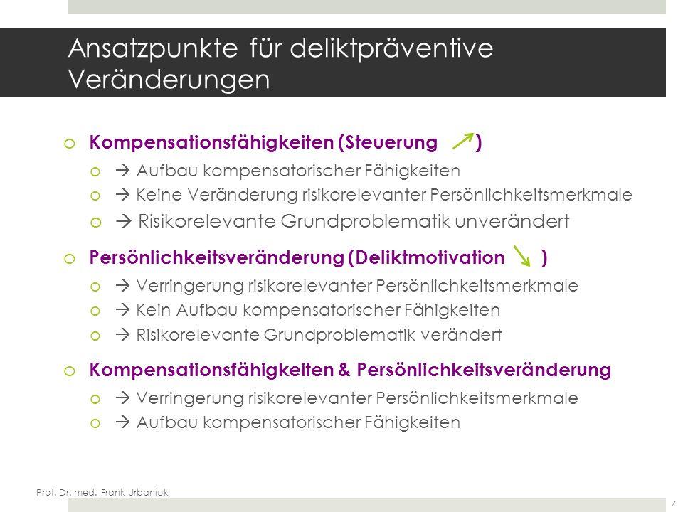 Prof. Dr. med. Frank Urbaniok Therapiebeginn (idealtypisch nach FOTRES) ST-R DY-R BEE 8