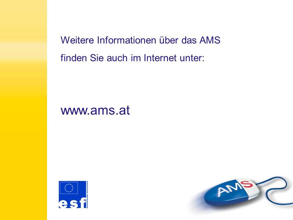 Wir wünschen Ihnen für Ihren Kursbesuch und für Ihre berufliche Zukunft viel Erfolg. Arbeitsmarktservice Niederösterreich Förderung Alles Gute!