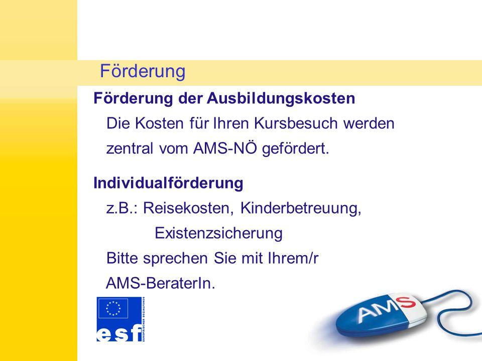 Persönliche Hindernisse bzgl.Teilnahme Bitte umgehend um Kontaktaufnahme mit AMS-BeraterIn! Sonstige Probleme beim Kursbesuch Abklärung mit Ihrer zust