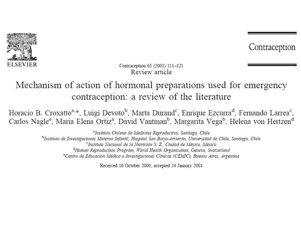Notfallkontrazeption/ EC vor der Ovulation vor oder nach der Befruchtung: Fertilisation vor oder nach der Einnistung Window for acting –intercourse-treatment –ovulation-treatment
