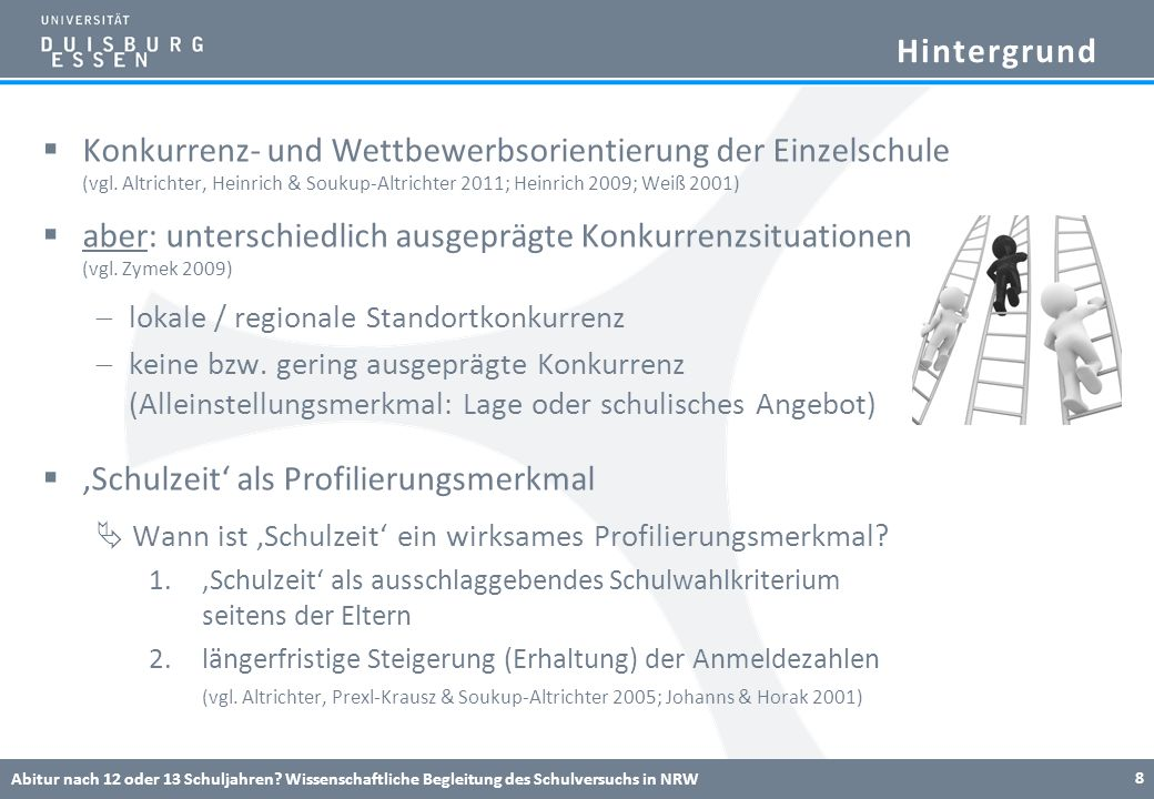 Hintergrund Konkurrenz- und Wettbewerbsorientierung der Einzelschule (vgl. Altrichter, Heinrich & Soukup-Altrichter 2011; Heinrich 2009; Weiß 2001) ab