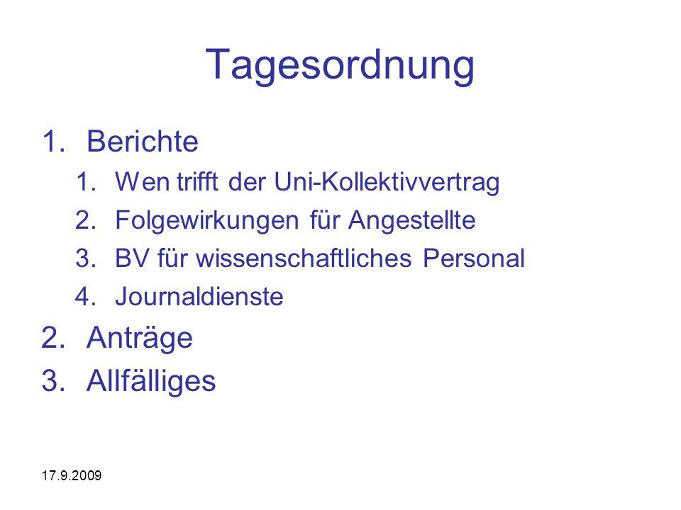 17.9.2009 Gehaltsansätze-Übersicht gem.Uni-KV Endfassung v.