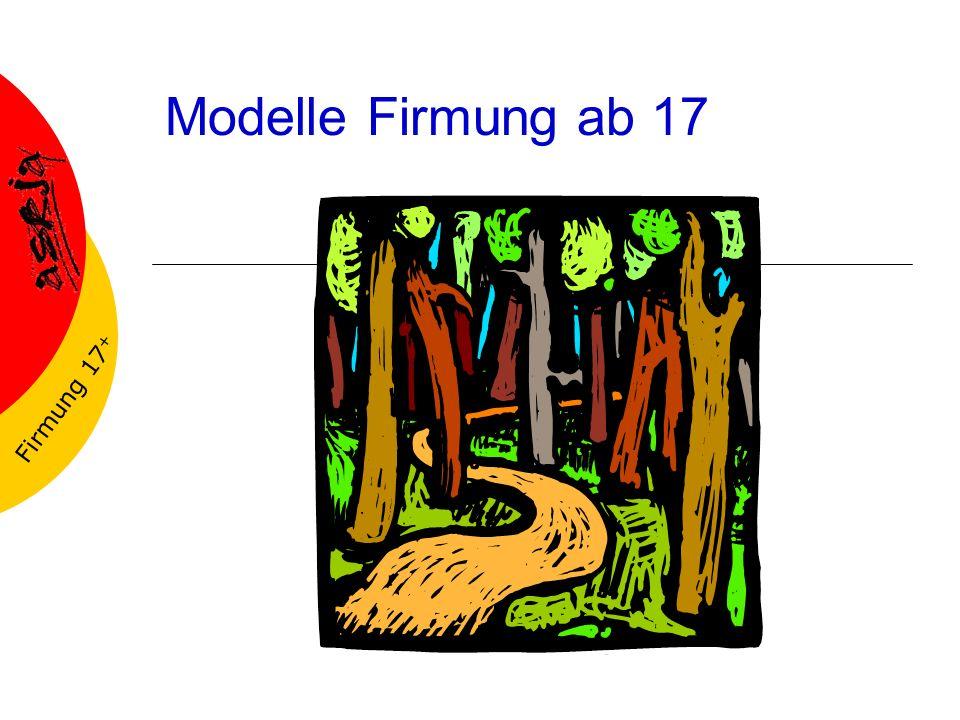 Firmung 17 + Modelle Firmung ab 17