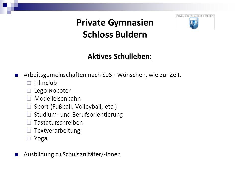 Aktives Schulleben: Arbeitsgemeinschaften nach SuS - Wünschen, wie zur Zeit: Filmclub Lego-Roboter Modelleisenbahn Sport (Fußball, Volleyball, etc.) S
