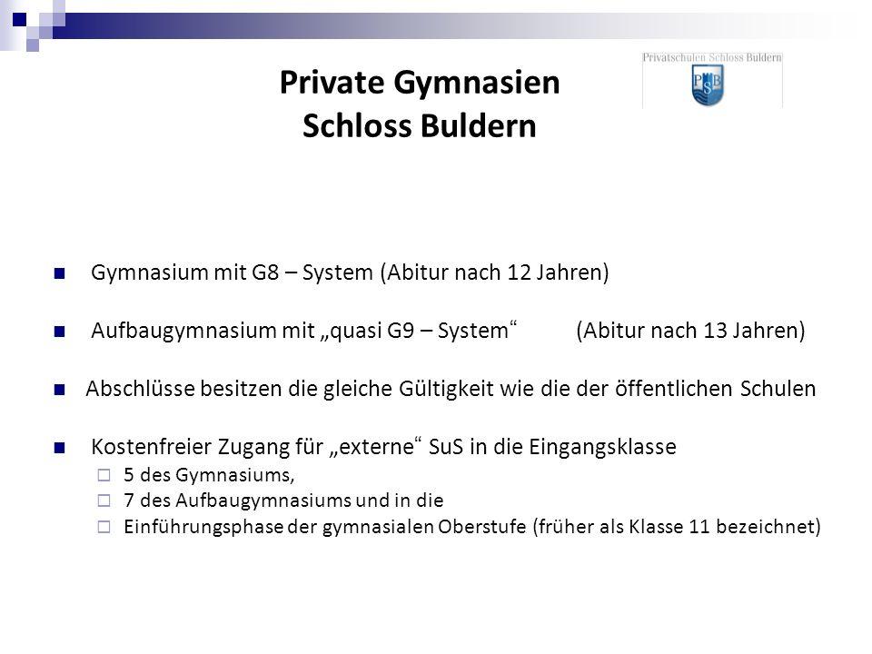 Gymnasium mit G8 – System (Abitur nach 12 Jahren) Aufbaugymnasium mit quasi G9 – System(Abitur nach 13 Jahren) Abschlüsse besitzen die gleiche Gültigk