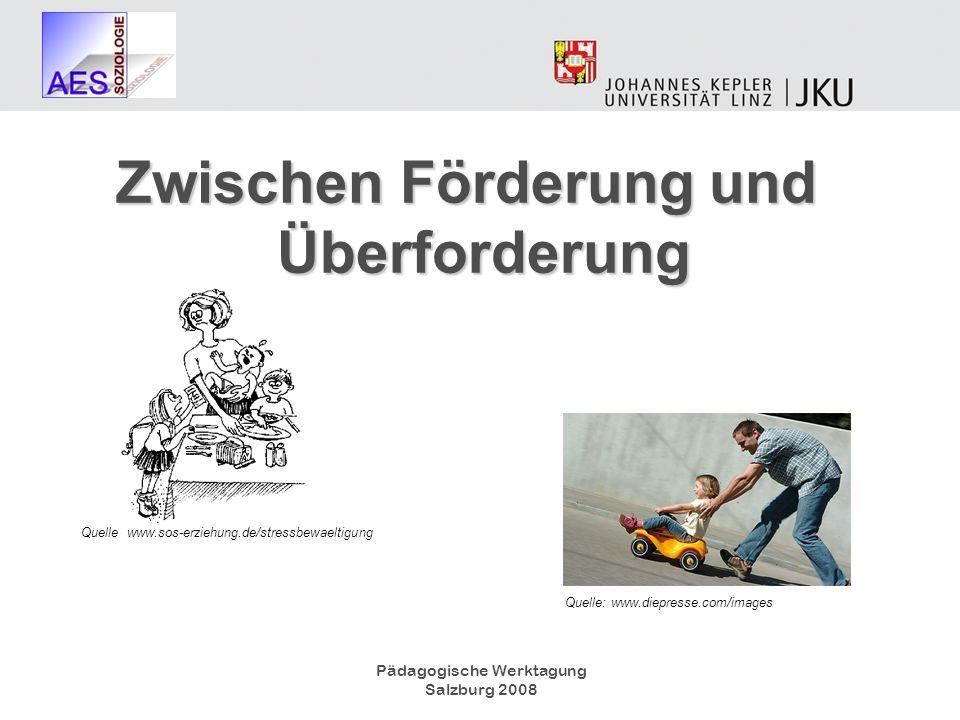 Pädagogische Werktagung Salzburg 2008 Zwischen Förderung und Überforderung Quelle: www.diepresse.com/images Quelle: www.sos-erziehung.de/stressbewaelt