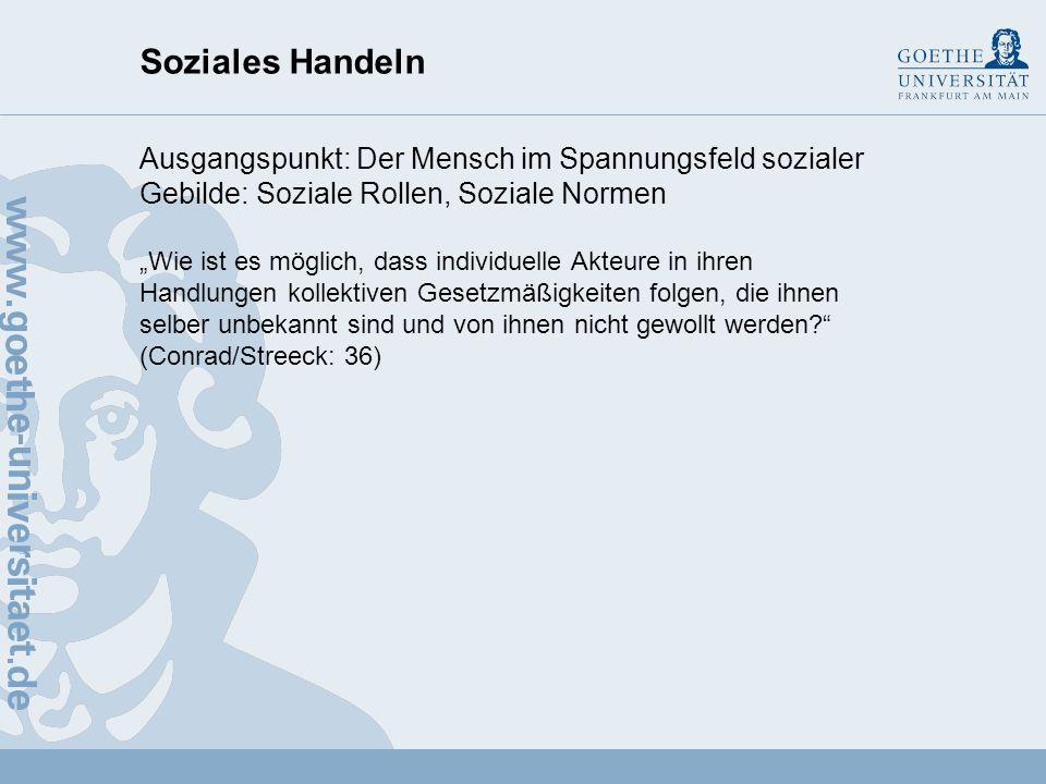 Propädeutikum Soziologie: Soziologische Grundbegriffe Soziales Handeln Professorin Dr.