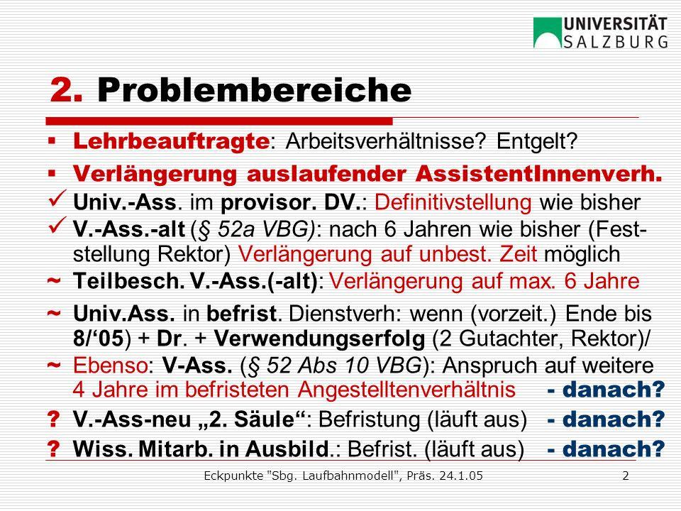 Eckpunkte Sbg. Laufbahnmodell , Präs.
