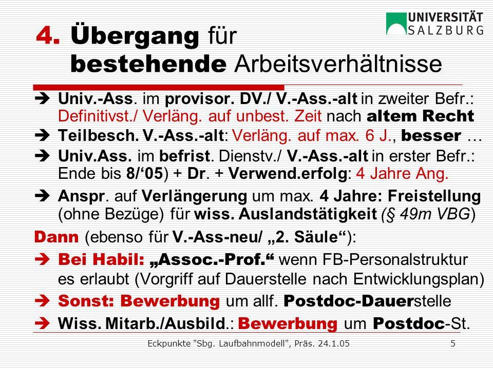 Eckpunkte Sbg. Laufbahnmodell , Präs. 24.1.054 3.