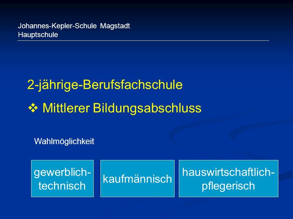 Johannes-Kepler-Schule Magstadt Hauptschule 2-jährige-Berufsfachschule Mittlerer Bildungsabschluss kaufmännisch gewerblich- technisch hauswirtschaftli
