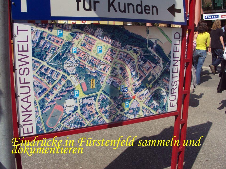 Eindrücke in Fürstenfeld sammeln und dokumentieren