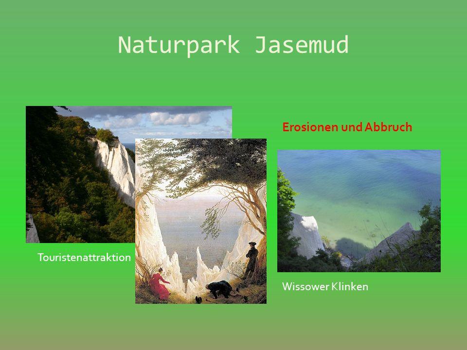 Naturpark Jasemud Touristenattraktion K önigsstuhl Erosionen und Abbruch Wissower Klinken