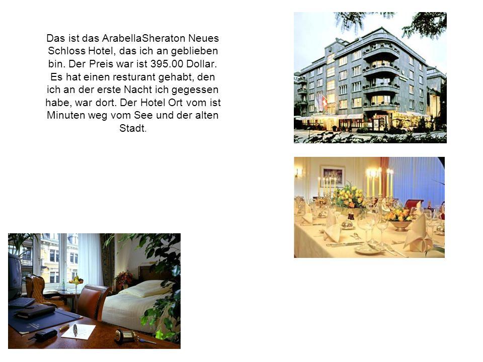 Das ist das ArabellaSheraton Neues Schloss Hotel, das ich an geblieben bin.