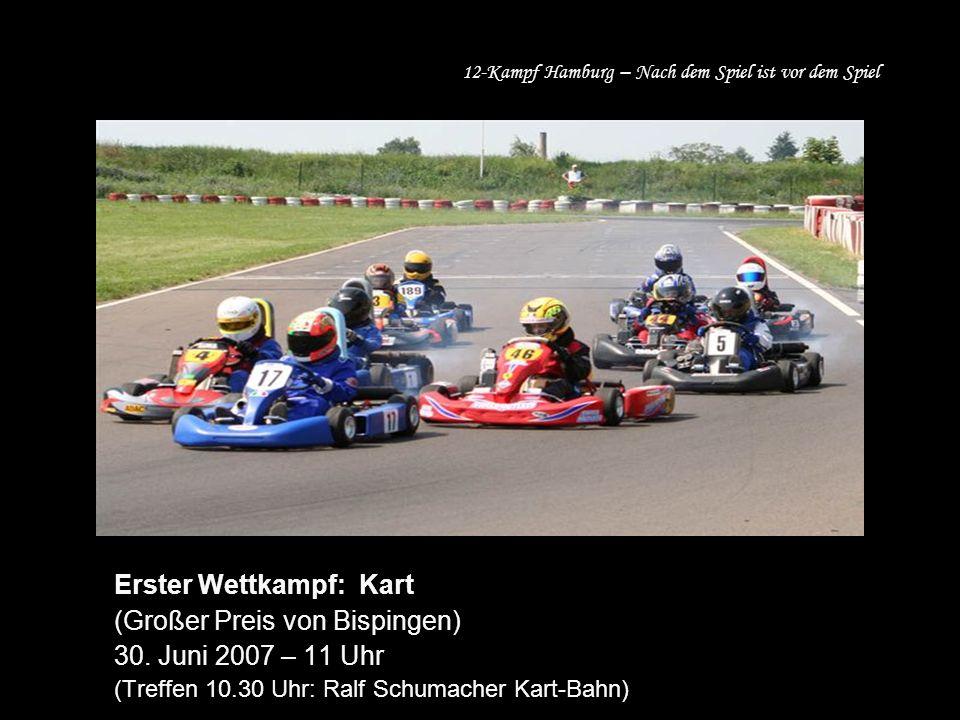 Erster Wettkampf: Kart (Großer Preis von Bispingen) 30.