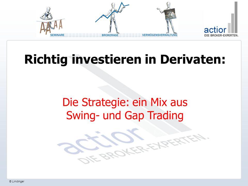 © Lindinger Richtig investieren in Derivaten: Die Strategie: ein Mix aus Swing- und Gap Trading