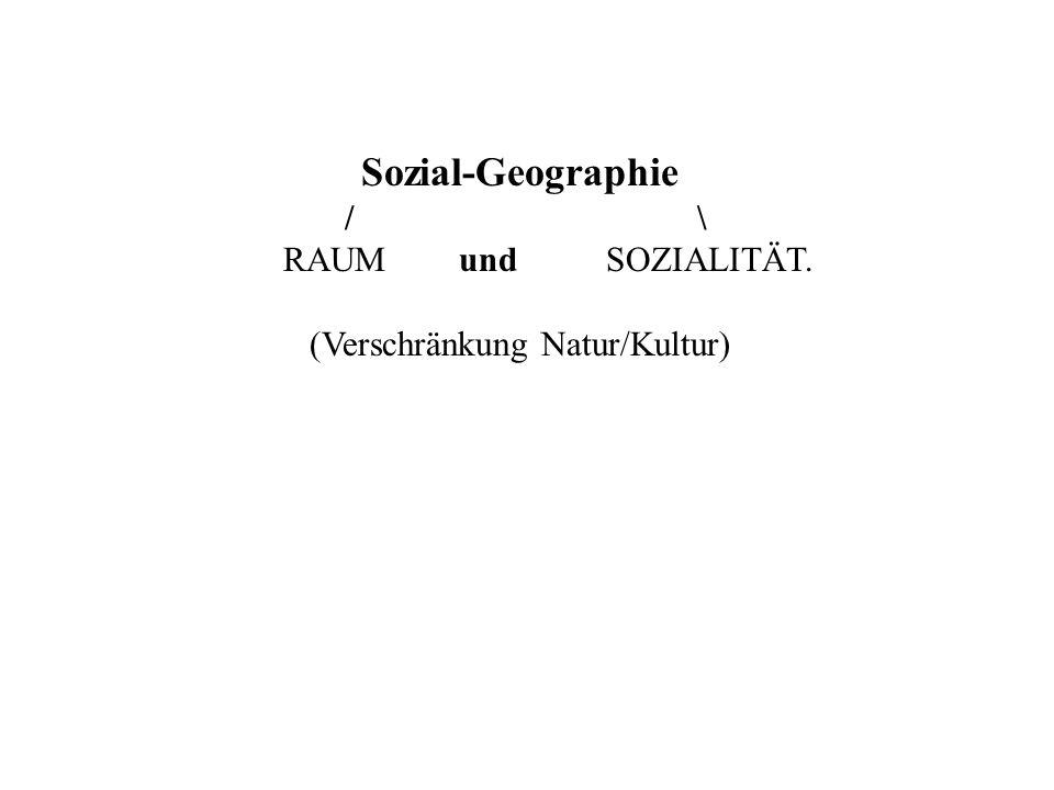 Sozial-Geographie / \ RAUM und SOZIALITÄT. (Verschränkung Natur/Kultur)