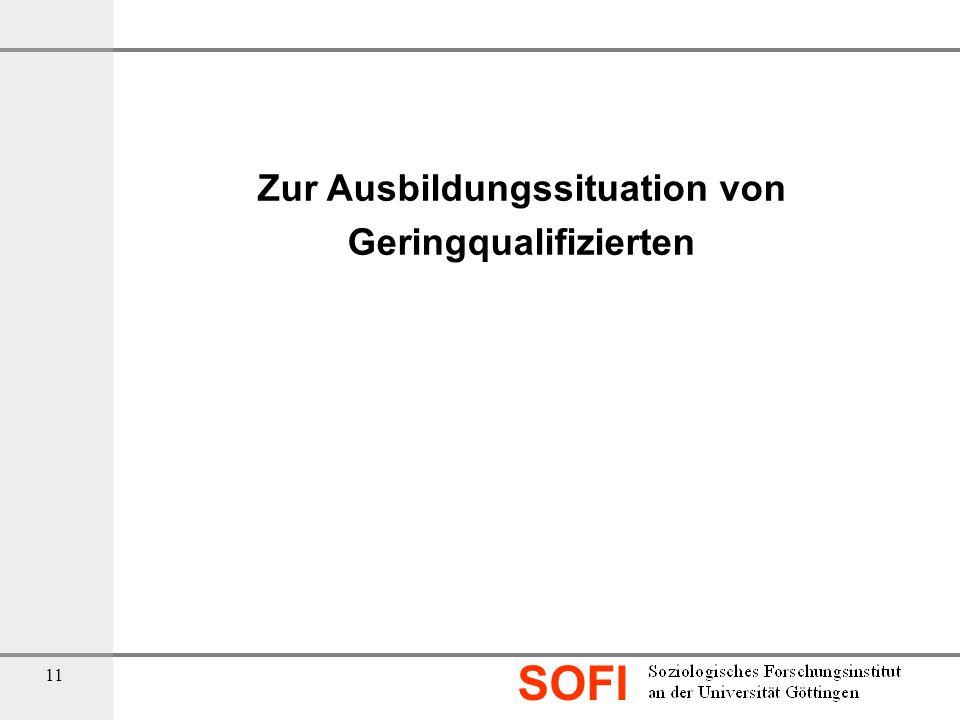 SOFI 11 Zur Ausbildungssituation von Geringqualifizierten
