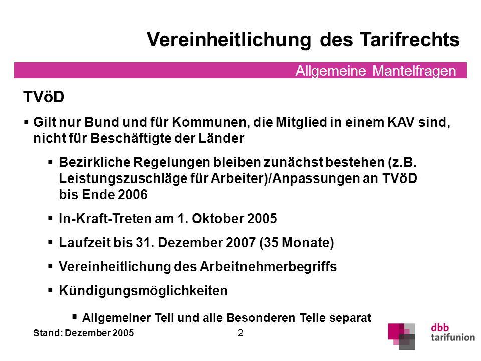 Stand: Dezember 2005 1 Allgemeine Mantelfragen §§ 1 bis 5; 22; 26 bis 39