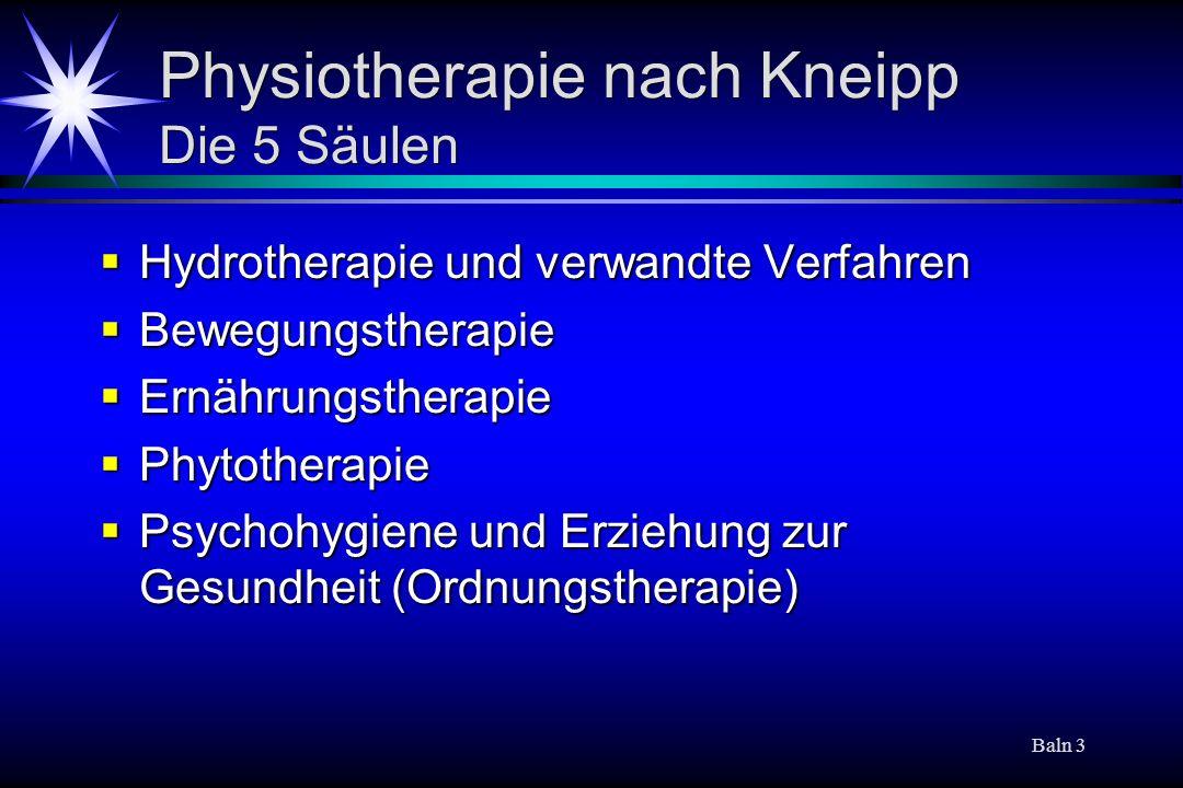 Baln 14 Kurortmedizin Welche Konzeptionen sind charakteristisch.