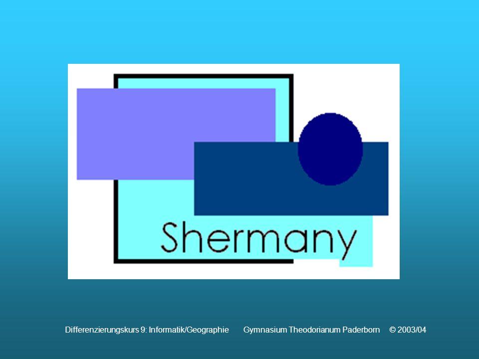 Differenzierungskurs 9: Informatik/Geographie Gymnasium Theodorianum Paderborn © 2003/04