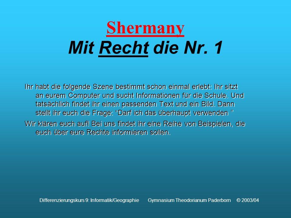Shermany Mit Recht die Nr.