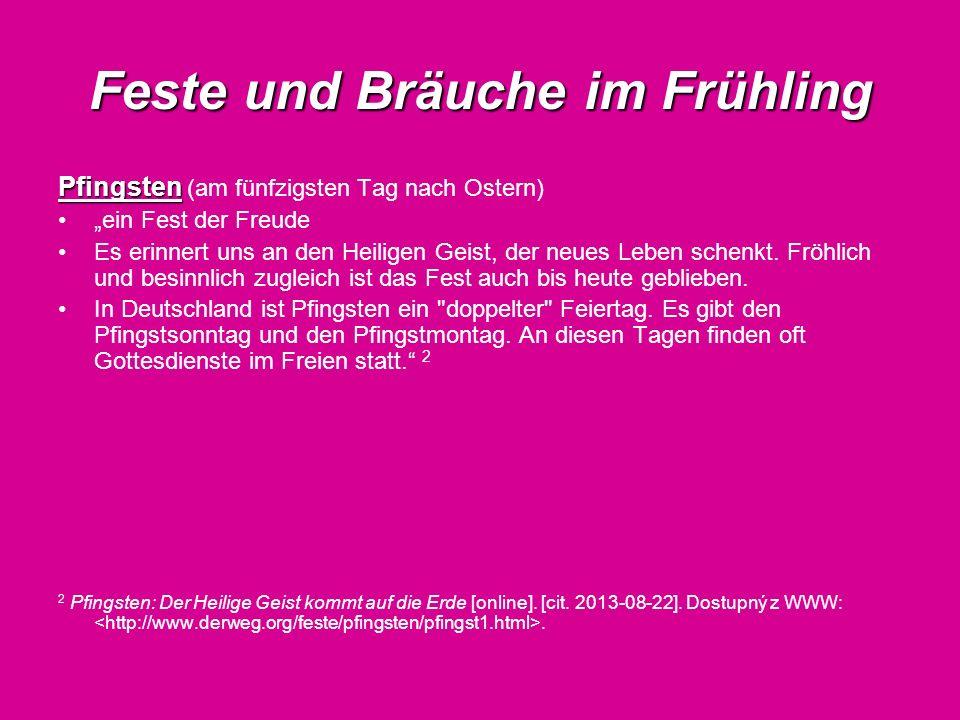 Feste und Bräuche im Sommer Johannistag Johannistag (der 24.