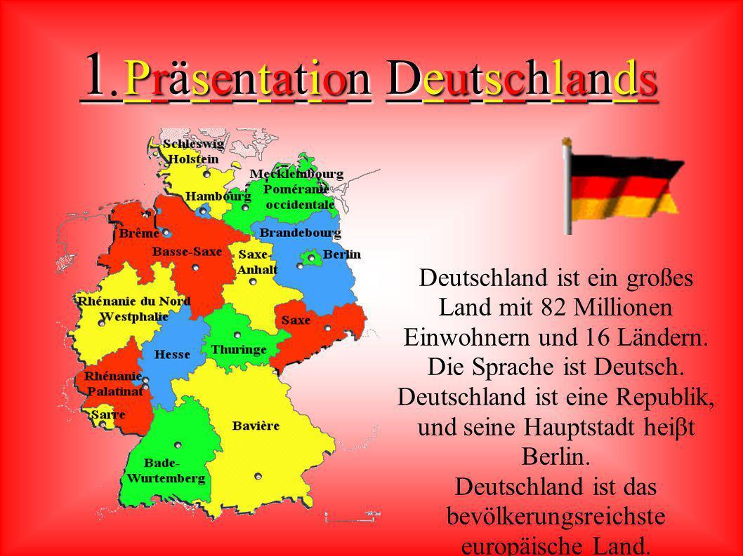 Inhaltsverzeichnis : 1) 1) Präsentation Deutschlands 2) 2) Präsentation des Landes Bayern 3) 3) Mein Tagebuch 4) 4) Erfahrungen und Eindrücke