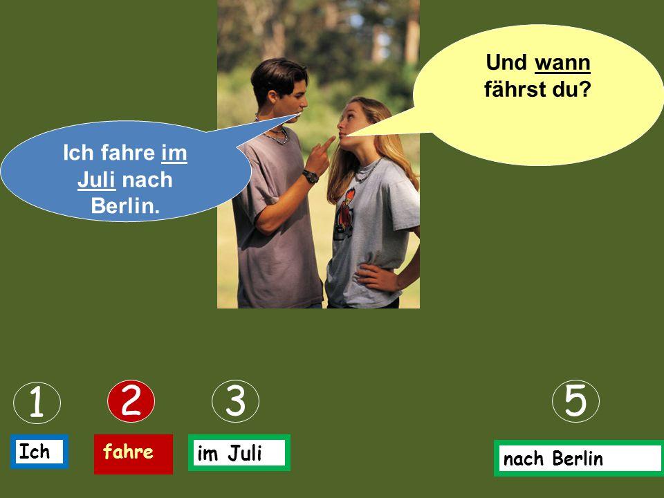 Ich fahre nach Berlin. 1 25 Ichfahre nach Berlin Wohin fährst du in den Ferien?