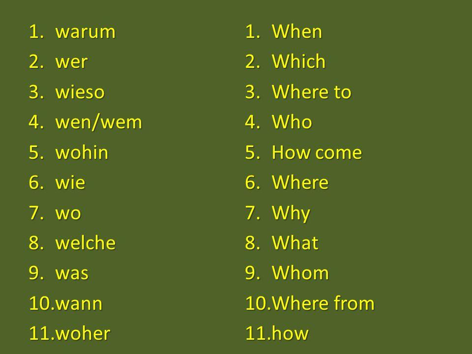 Hmmm… How many interrogative pronouns can you remember.