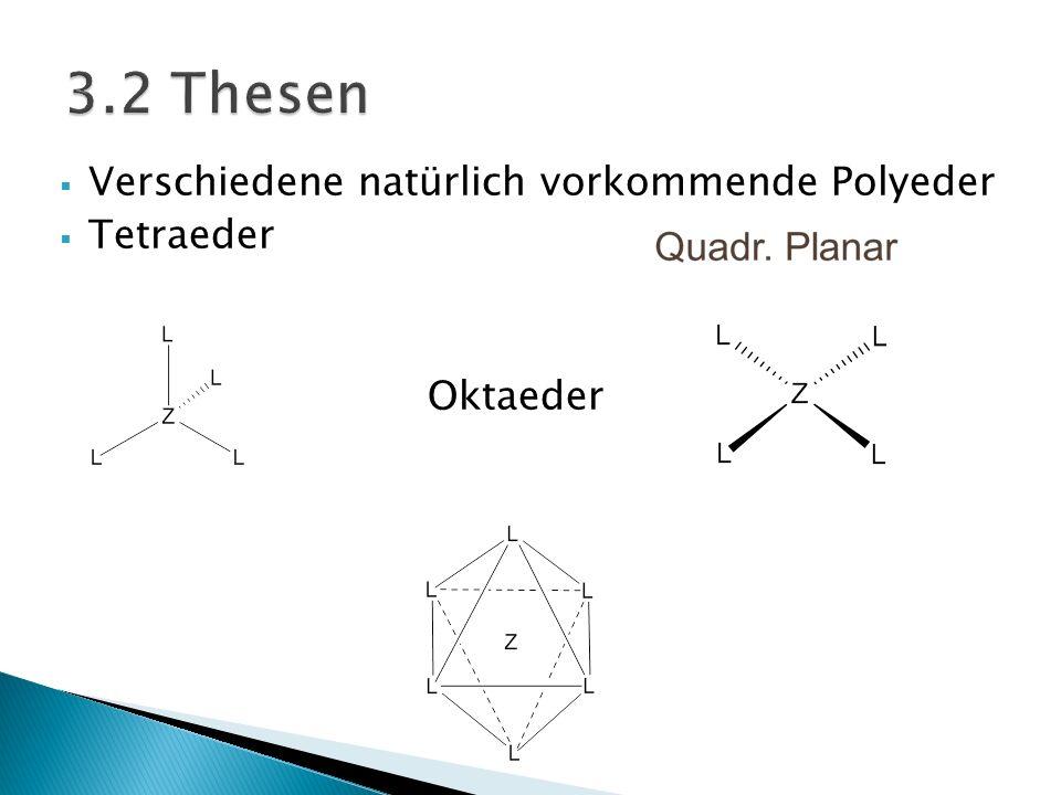 Verschiedene natürlich vorkommende Polyeder Tetraeder Oktaeder