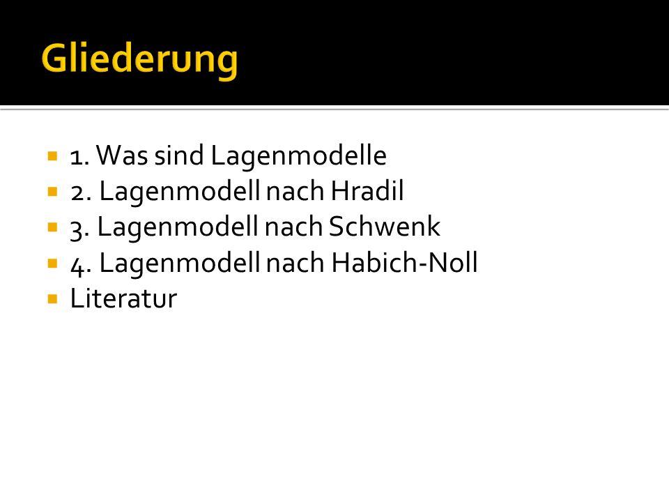 1. Was sind Lagenmodelle 2. Lagenmodell nach Hradil 3. Lagenmodell nach Schwenk 4. Lagenmodell nach Habich-Noll Literatur