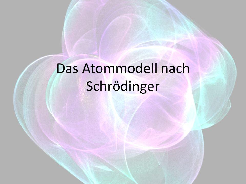 Gliederung 1.Das Atommodell nach Erwin Schrödinger 2.Unterschiede zu Bohr 3.Wie kann man das Modell lehren.