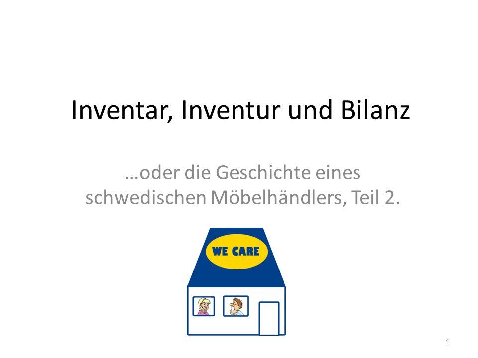 Inventar, Inventur und Bilanz …oder die Geschichte eines schwedischen Möbelhändlers, Teil 2. 1