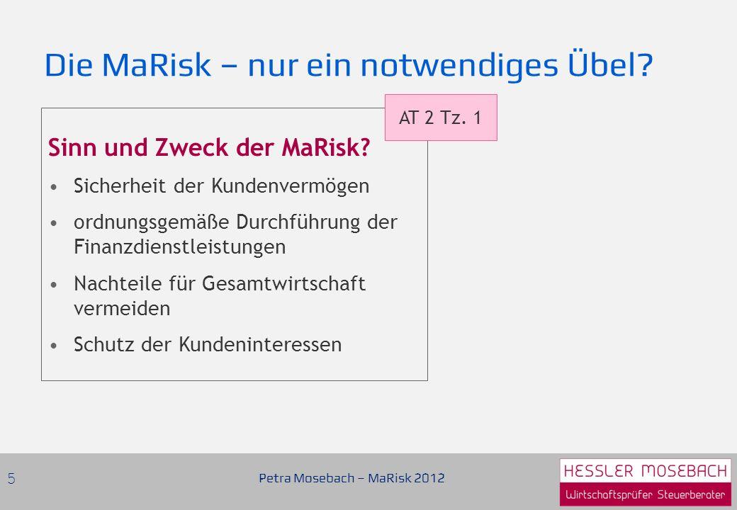 Sinn und Zweck der MaRisk.
