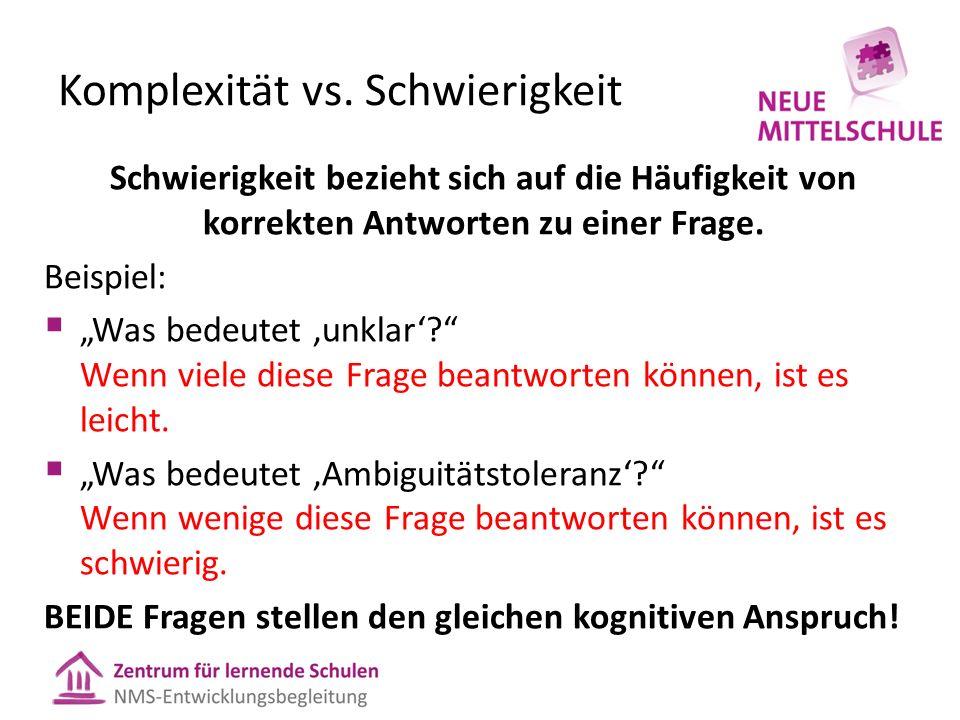 Komplexität vs.
