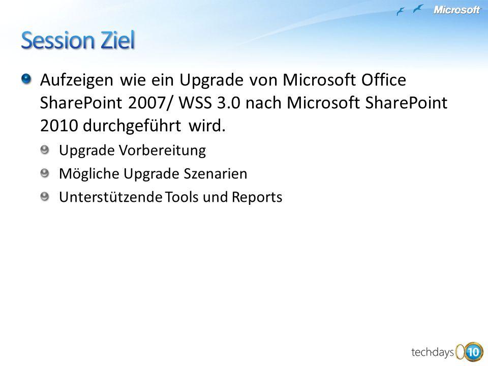 Aufzeigen wie ein Upgrade von Microsoft Office SharePoint 2007/ WSS 3.0 nach Microsoft SharePoint 2010 durchgeführt wird.