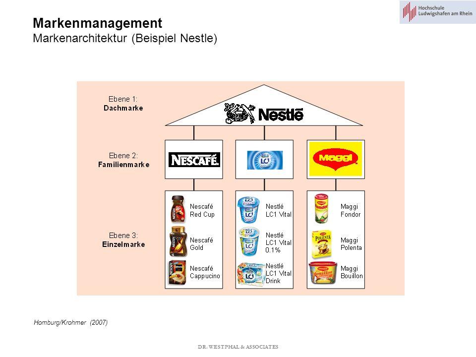 Markenmanagement Markenarchitektur (Beispiel Nestle) Homburg/Krohmer (2007) DR.