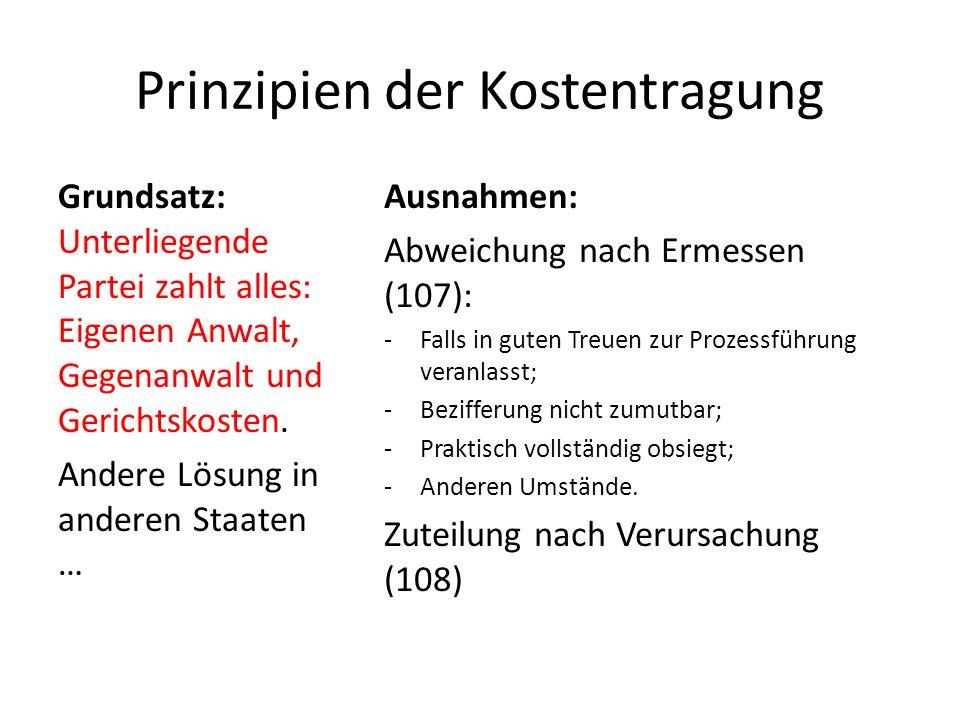 Kautions- und Sicherstellungspflicht Gerichtskosten: Kautionspflicht nach Ermessen des Gerichtes (98)!!!!.