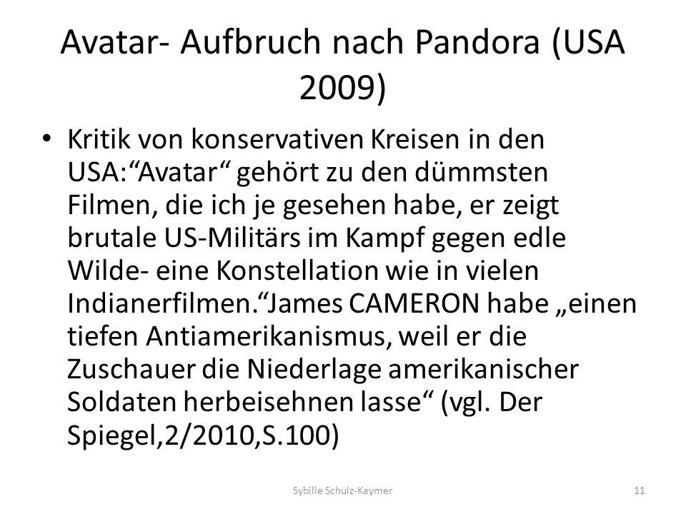 Avatar- Aufbruch nach Pandora (USA 2009) Kritik von konservativen Kreisen in den USA:Avatar gehört zu den dümmsten Filmen, die ich je gesehen habe, er