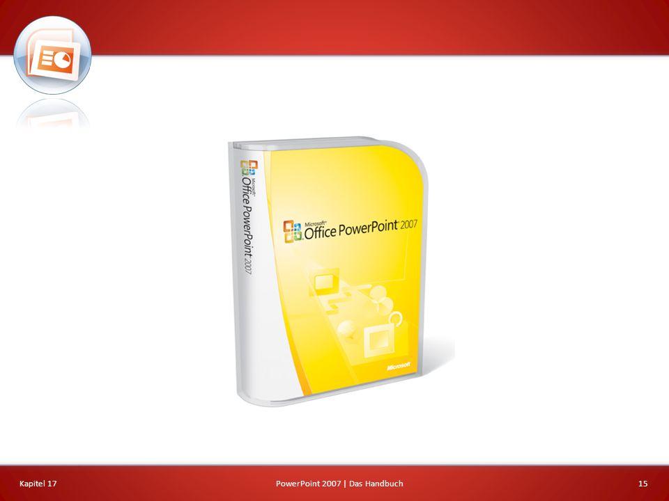 Kapitel 17PowerPoint 2007 | Das Handbuch15