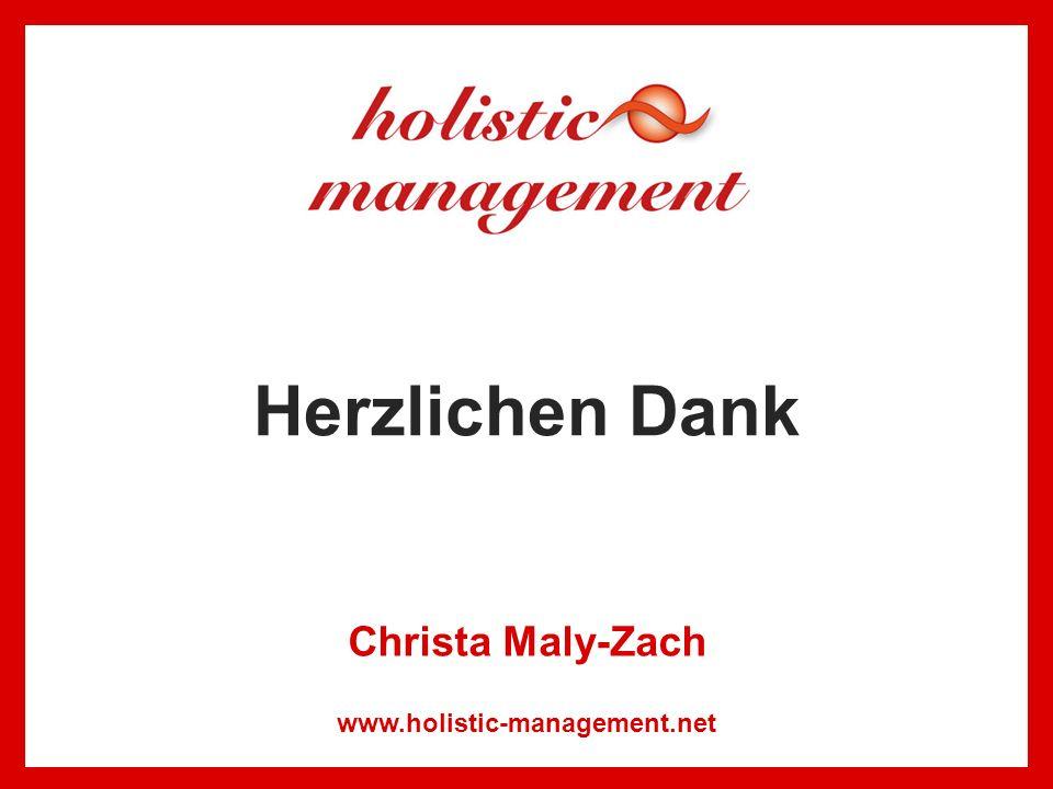 Herzlichen Dank www.holistic-management.net Christa Maly-Zach