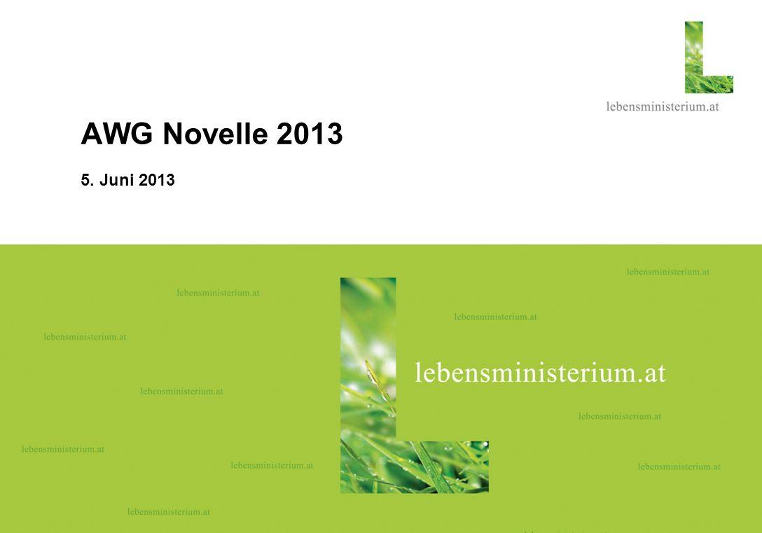 Seite 1 08.06.06 AWG Novelle 2013 5. Juni 2013