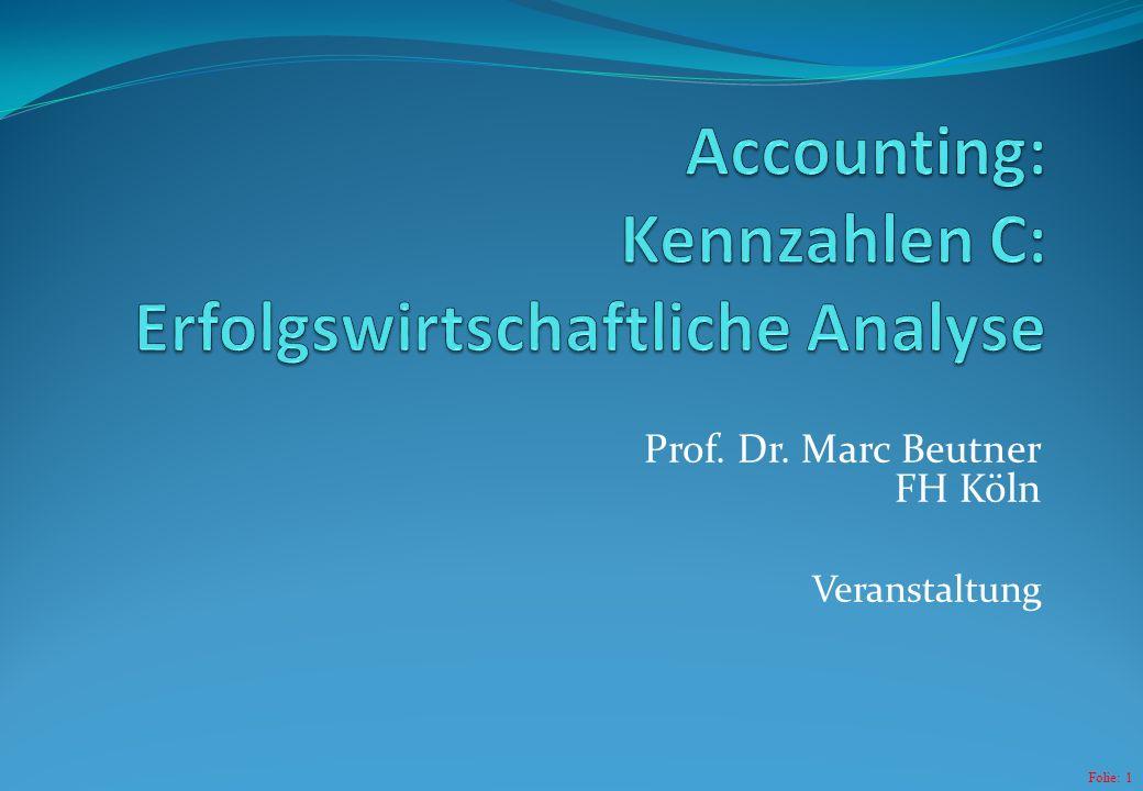 Folie: 1 Prof. Dr. Marc Beutner FH Köln Veranstaltung